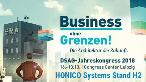 DSAG-Jahreskongress Info mit HONICO am Stand H2