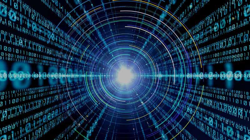 Coding Symbole mit Licht als Zeichen für Höchstleistung für Prozesssteuerung