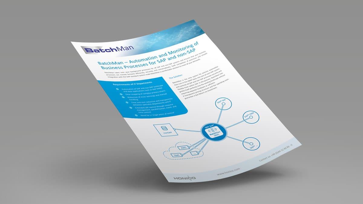 Produktdatenblatt BatchMan Job Automation - Überblick Produktinformationen