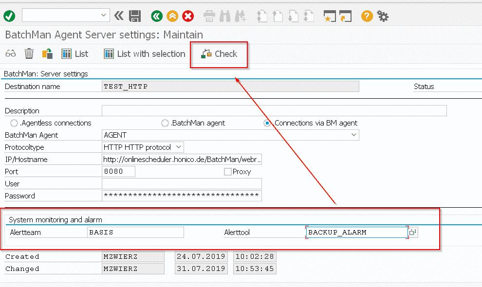 FDM Verbindung Alarmfunktion