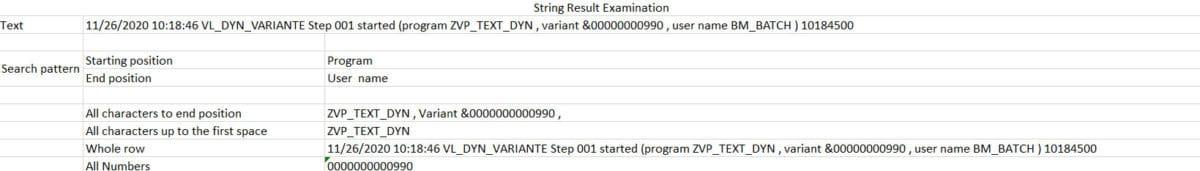 Screenshot Text Examination Example