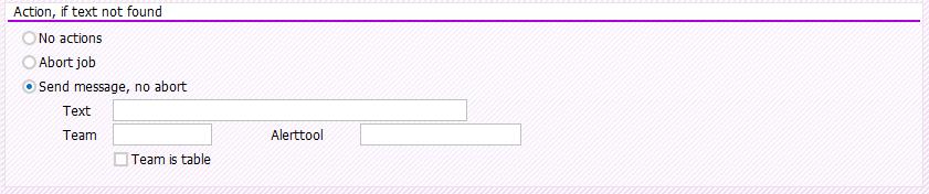 Screenshot No Text actions in BatchMan