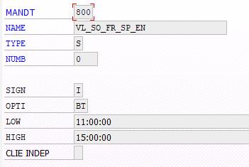 Screenshot TVARV Variable in BatchMan