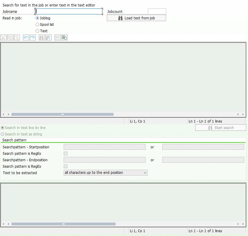 Screenshot Enter search criteria in test mode in BatchMan