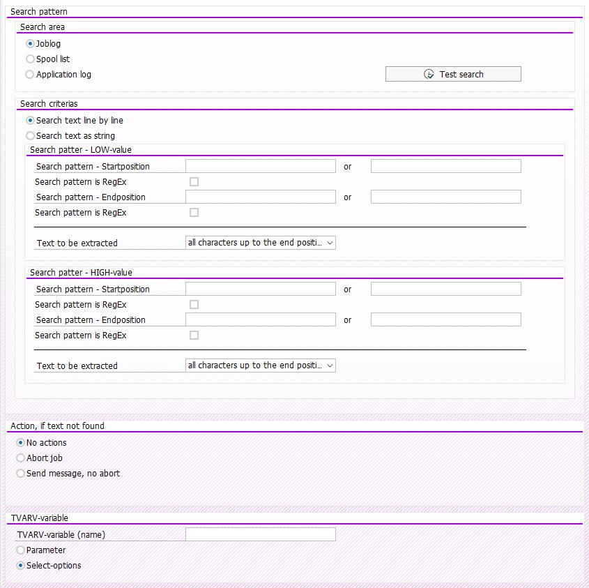 Screenshot Parameter for variable in BatchMan