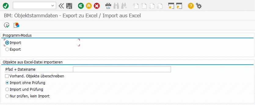 Screenshot BatchMan Excel-Datei importieren
