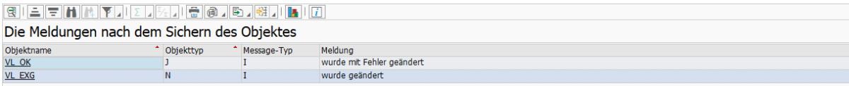 Screenshot BatchMan Protokoll nach Datei-Import ohne Prüfung