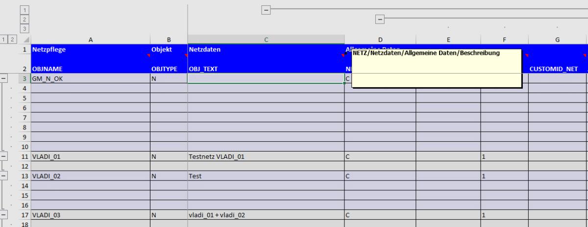 Screenshot QuickInfo der Feldnamen zeigt den Menupfad im BatchMan
